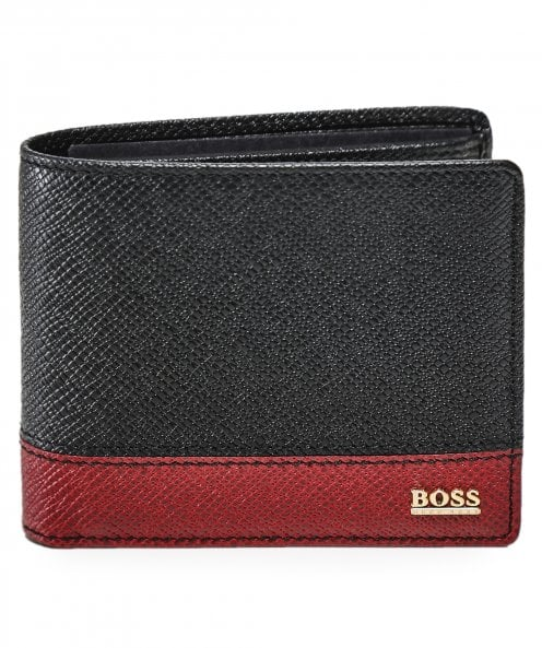 BOSS Leather Signature BG_4cc co Wallet