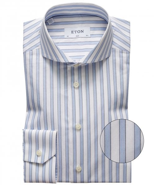 Eton Stretch Slim Fit Striped Shirt