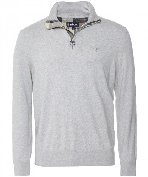 Barbour Cotton Half-Zip Tain Jumper