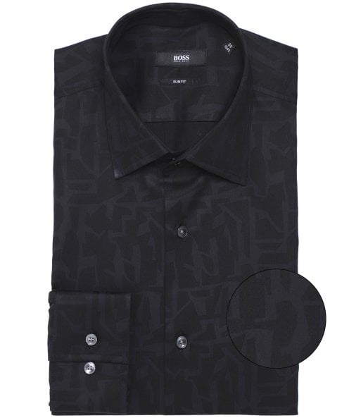 BOSS Slim Fit Abstract Print Jango Shirt