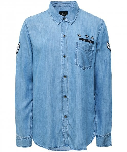 Rails Calder Military Patch Shirt