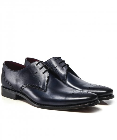 Loake Leather Semi-Brogue Hannibal Shoes