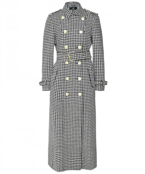 Holland Cooper Full Length Houndstooth Marlborough Trench Coat