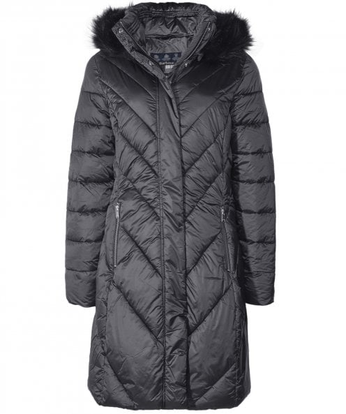 Barbour Reesdale Faux Fur Trim Quilted Jacket