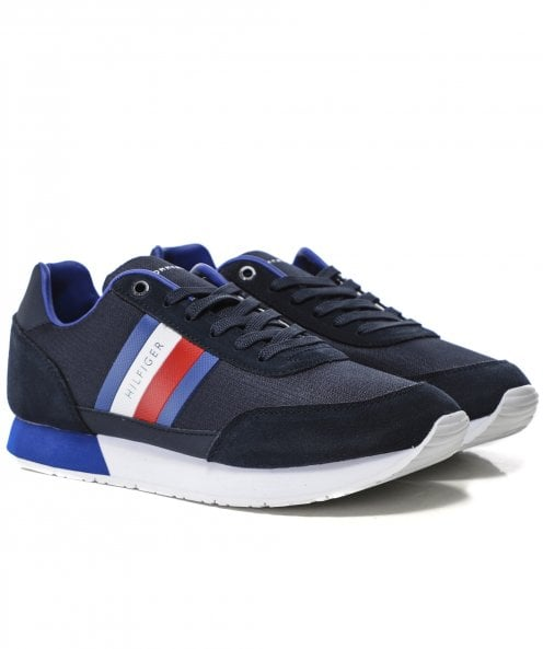 Tommy Hilfiger Mixed Texture Flag Trainers