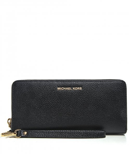 Michael Kors Pebbled Leather Continental Wristlet