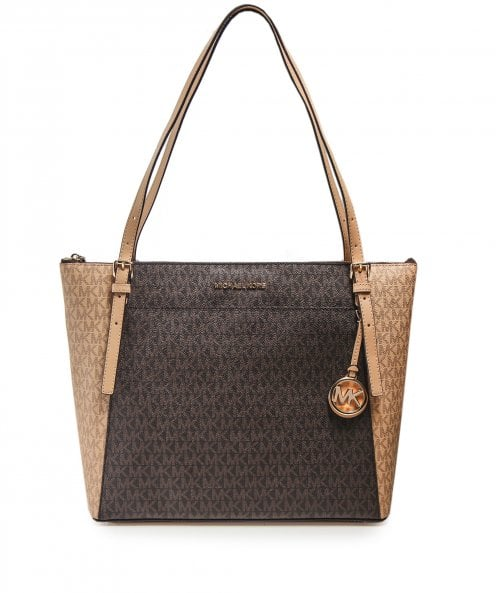 Michael Kors Voyager Large Saffiano Leather Logo Tote Bag