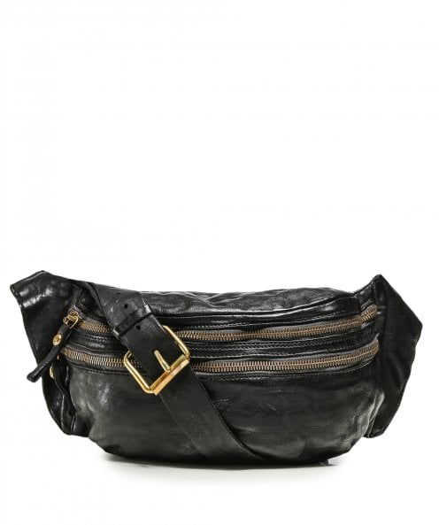 Campomaggi Leather Mock Croc Waist Bag