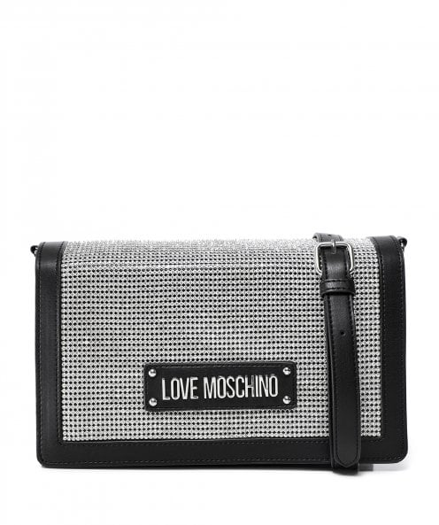Moschino Love Moschino Crystal Embellished Shoulder Bag