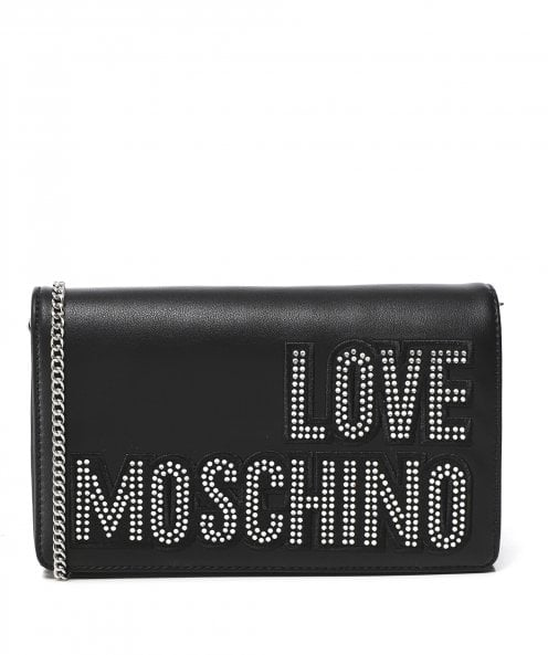 Moschino Love Moschino Studded Logo Crossbody Bag