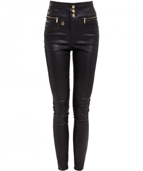 Holland Cooper Skinny Leather Look Trousers