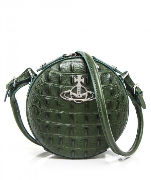 Vivienne Westwood Accessories Leather Mock Croc Johanna Round Bag