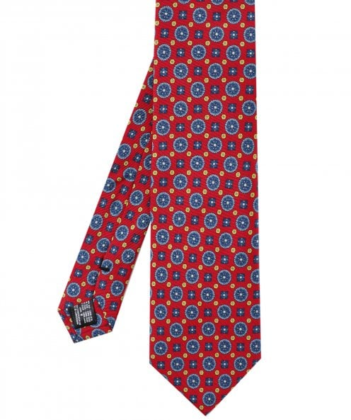 Amanda Christensen Silk Medallion Pattern Tie