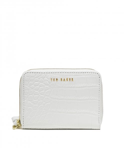 Ted Baker Stamoo Mini Croc Print Leather Matinee Purse