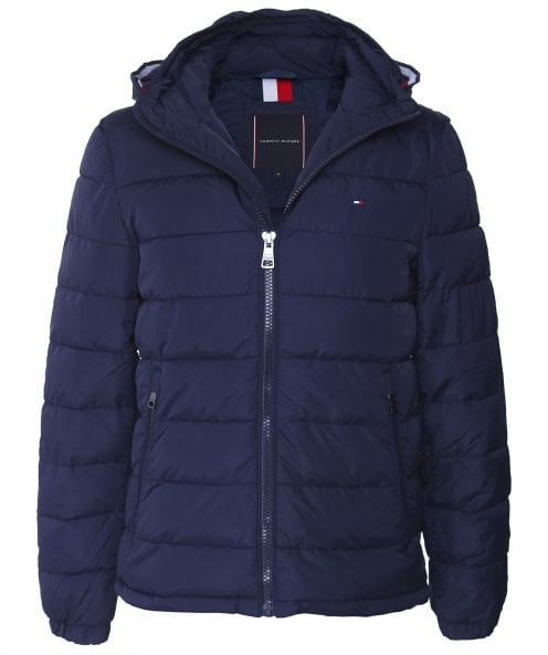 Tommy Hilfiger Water-Repellent Hooded Quilted Jacket