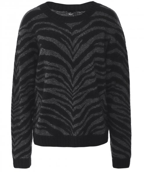 Rails Cashmere & Wool Blend Chance Tiger Stripe Jumper