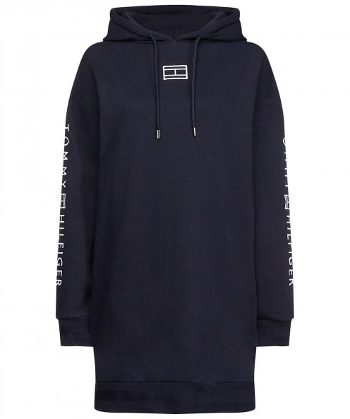 Tommy Hilfiger Paloma Logo Hoodie Sweatshirt Dress
