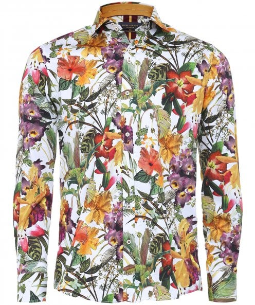Guide London Slim Fit Floral Shirt