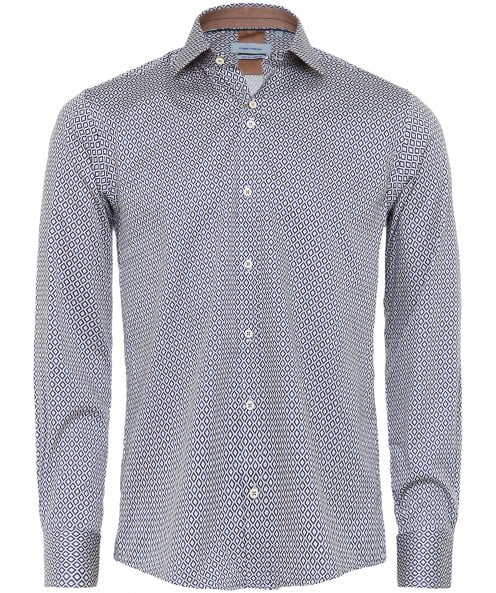 Guide London Stretch Fit Geometric Print Shirt