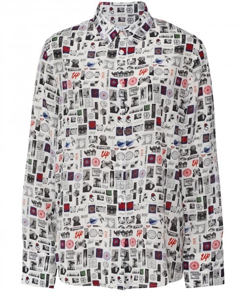 Paul Smith Silk Postcard Shirt