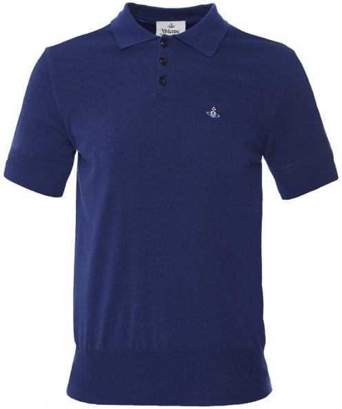 Vivienne Westwood Man Knitted Cotton Polo Shirt