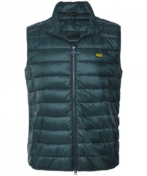 Barbour International Baffle Quilted Reed Gilet