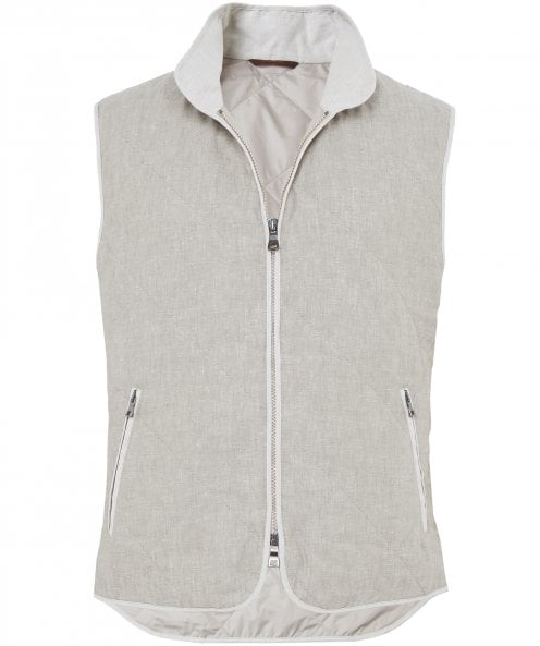 Waterville Linen Quilted Gilet