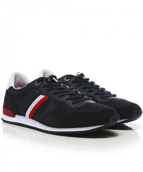 Tommy Hilfiger Mixed Material Iconic Runner Trainers