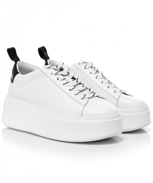 Ash Moon Leather Platform Trainers