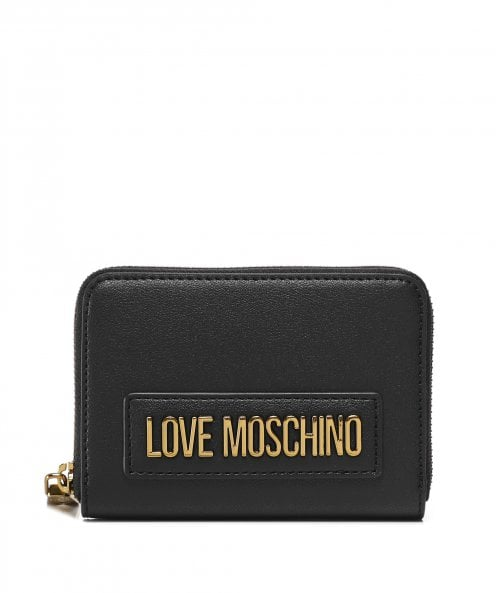 Love Moschino Logo Zip-Around Purse