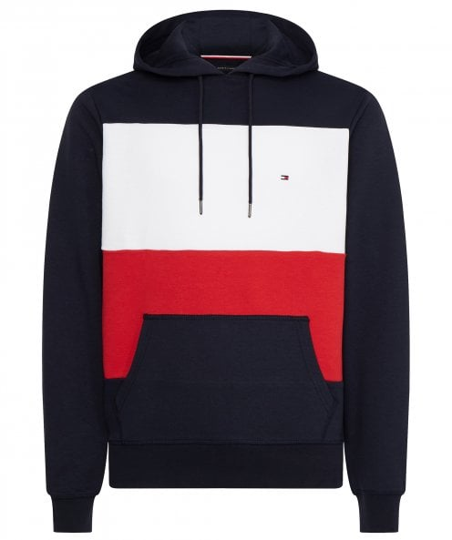 Tommy Hilfiger Organic Cotton Colour Block Hoodie