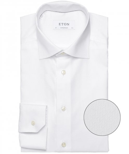 Eton Contemporary Fit Micro Pattern Shirt