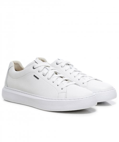 Geox Tumbled Leather Deiven Trainers