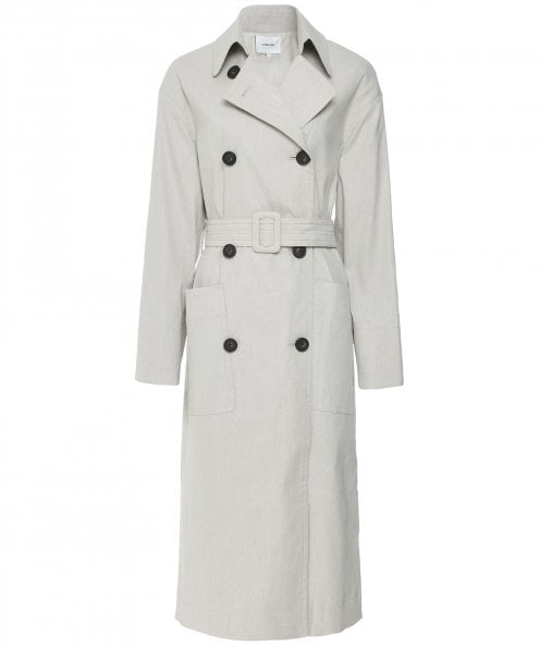 Vince Linen Blend Belted Trench Coat
