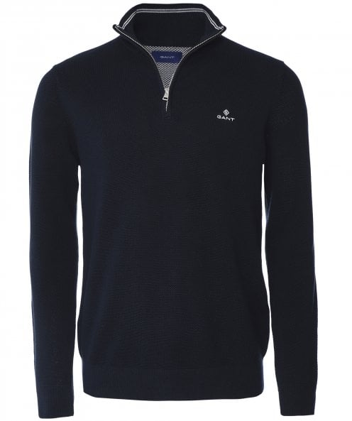 GANT Cotton Pique Half-Zip Jumper