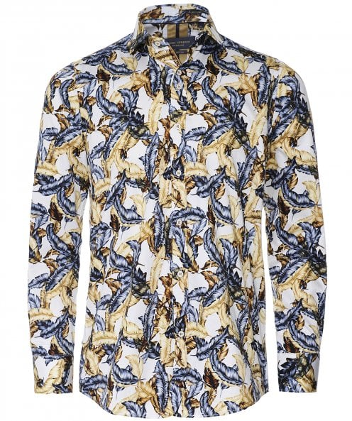 Guide London Slim Fit Feather Print Shirt