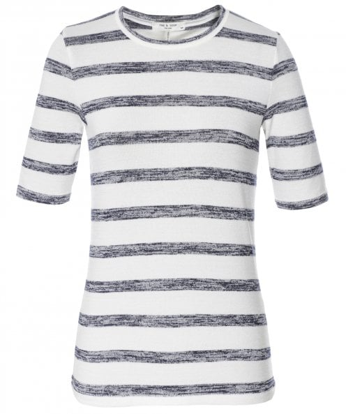 Rag and Bone The Knit Striped Slim Tee