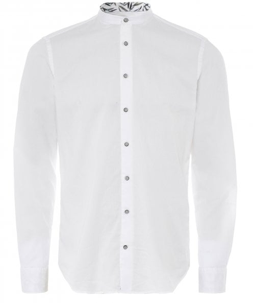 Baldessarini Cotton Pique Granpa Shirt