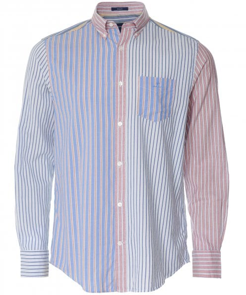 GANT Regular Fit Mixed Stripe Windblown Oxford Shirt