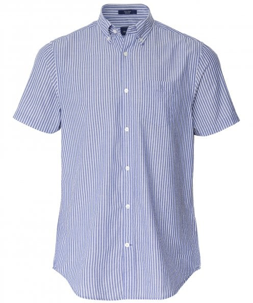 GANT Regular Fit Short Sleeve Striped Seersucker Shirt