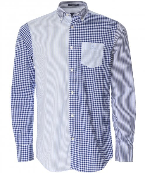 GANT Regular Fit Mixed Panel Broadcloth Shirt