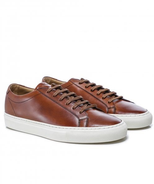Loake Hand-Painted Leather Sprint Trainers