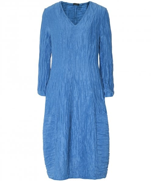 Grizas Linen & Silk V-Neck Dress