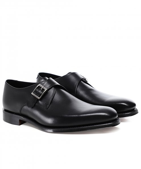 Loake Leather Medway Monk Shoes