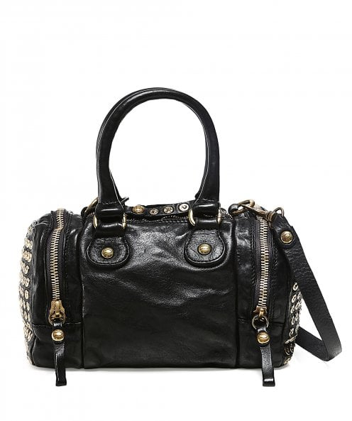 Campomaggi Studded Leather Bowling Bag