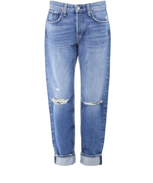 Rag and Bone Rosa Mid-Rise Boyfriend Jeans