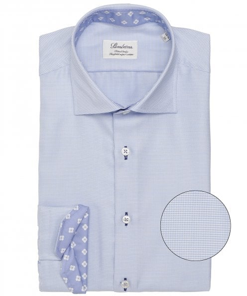 Stenstroms Fitted Body Micro Houndstooth Shirt