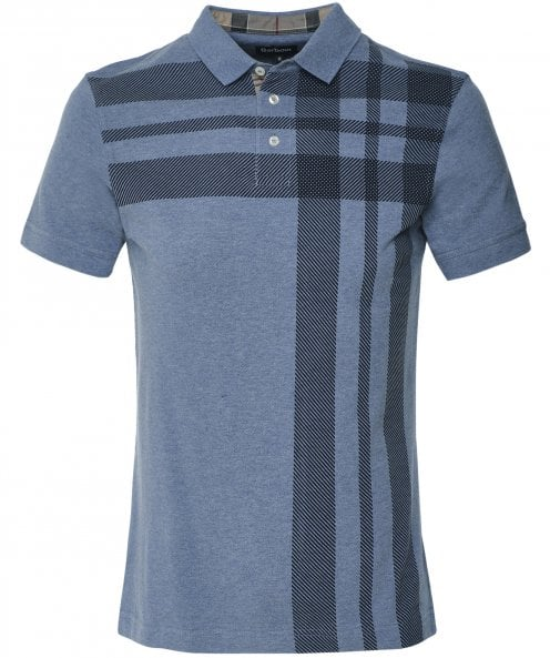 Barbour Check Howard Polo Shirt