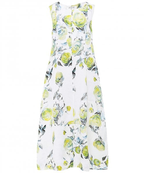 Grizas Sleeveless Linen Floral Dress