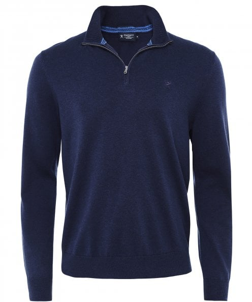 Hackett Cotton Silk Half-Zip Jumper